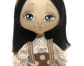 Cloth doll - coffee fairy. - NatsDoll