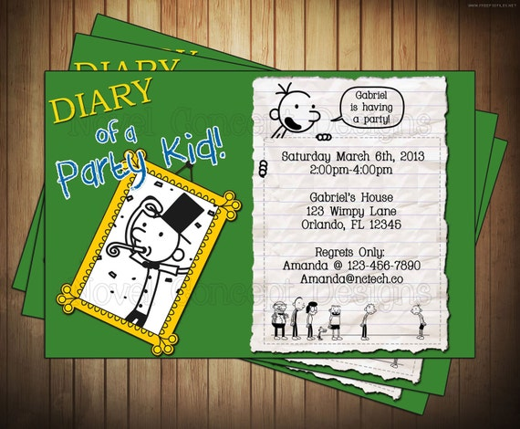 Novel Concept Designs: Diary of a Wimpy Kid Birthday ...
