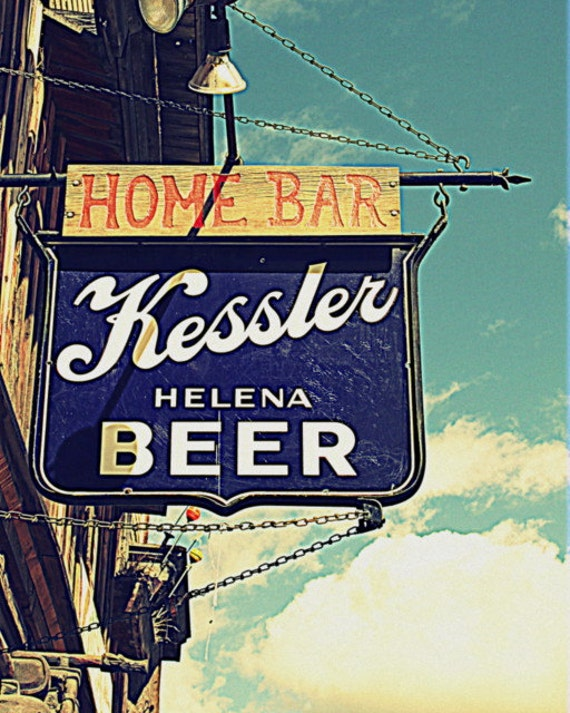 Old Beer Sign Photography vintage industrial by KarieJorgensen