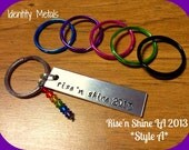 Rise'n Shine 2013 LA Convention Style A - Queer as Folk - QAF - Swarovski Rainbow Charm - Hand Stamped Aluminum Keychain - Profits to RnS