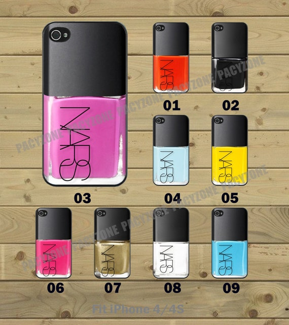 Nail Polish 9 Colors to Chooes - iPhone 4 Case iPhone 4S Case iPhone Case Hard Plastic or Silicon Rubber iPhone Cover for iPhone case