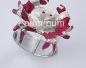 sterling silver 925 flexible crab ring