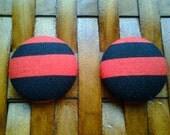 Fabric Button Earrings-Bombshell