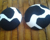 Extra Large Fabric Button Earrings-Shatter