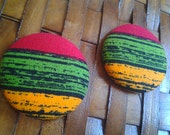 Extra Large Button Earrings-Pride