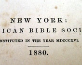 1880 American Bible
