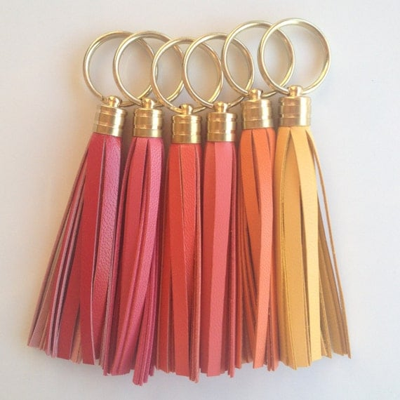 Leather Tassel Keychains