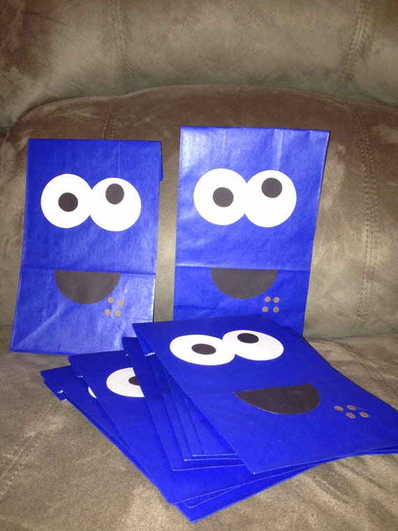 10 Cookie Monster Inspired Treat Bags