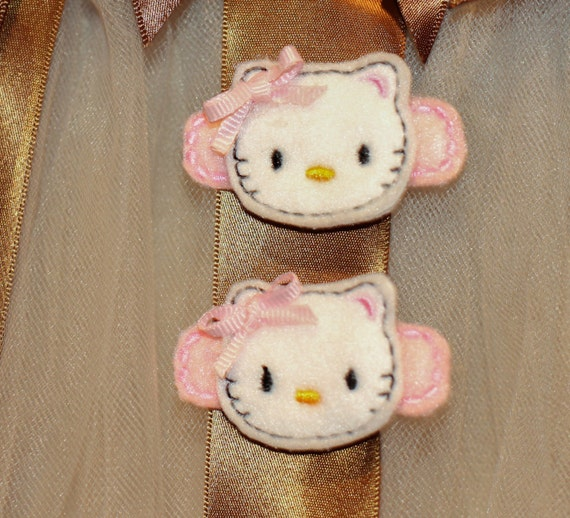 Hello Kitty Hair Clip Alligator Clip Felt Clip