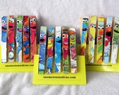 Sesame Street Birthday Clothespin Magnets - 15 for birthday treat bags or favors, decorations, can be magnets