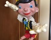 Vintage Pinocchio Pelham Puppet Marlborough Wilts String Puppet with original box