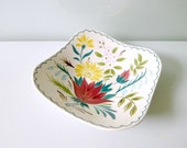 Mid Century Floral Fruit Bowl - Bella Vista, Spring, Garden, Nature - 1960's Midwinter, Jessie Tait - Mad Men, Home & Living, Serving - mungoandmidge