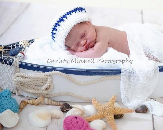 PATTERN Sailor Hat & Scarf Set - Crochet