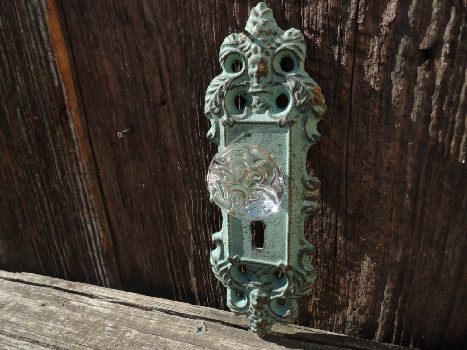 Victorian Style Door Plate/Wall HookFixture/Shabby by JUNKINTIME