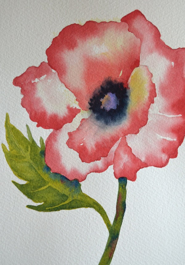 Easy watercolor paintings flowers for Simple flower paintings for beginners