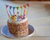 Cake Bunting Flag Pennant Rainbow Colors - FeltLikeCelebrating