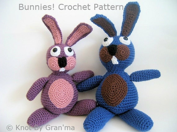 Bunnies! Rabbit Crochet Pattern by Knot By Gran'ma