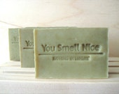 Good Luck and Get Lucky Man Soap - manly woodland ish scent - gift for men current batch is sage green - soap