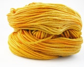 Hand dyed superwash merino wool, light worsted DK yarn, 100grams double knitting, Perran Yarns, Honey Gold, yellow, Lemon Zest