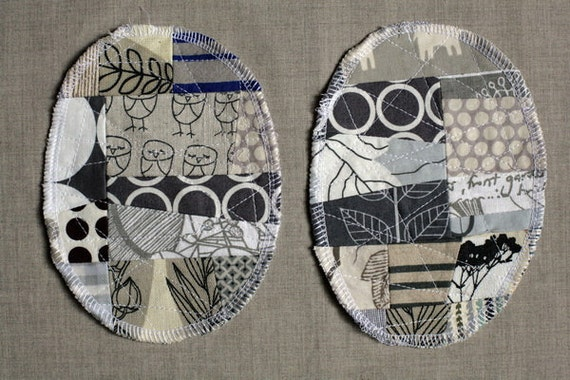 Patchwork Knee Patches - set of 2 grey