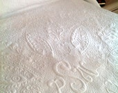 "Heirloom Wedding Whole Cloth queen Bed Quilt  84"" x 102"" Welsh Beauty Made to Order - QuiltLover"