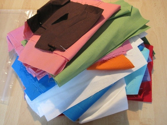 One and a Half Pound Solid Cotton Quilt Fabric Scraps