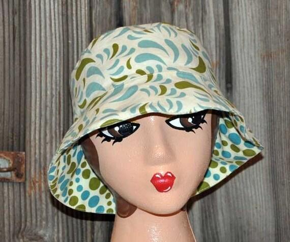 Sun Bucket Hat 2-in-1 Reversible Hat: Feeling Blue