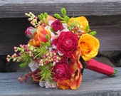 Bright Spring Wedding Bouquet...Ready to Ship - justanns