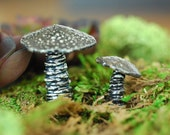 Terrarium Miniature Garden Art Ceramic Mushroom Sculptures For Indoor House Plant Gardens