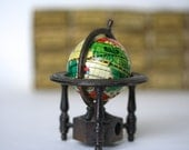 Sharp as a . . . Vintage Globe Pencil Sharpener, Tin Litho Globe, World, Earth