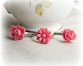 Rozova Children's Ring Set. Flower Pink Trio Girls Party Favour Bonbonniere - dspdavey