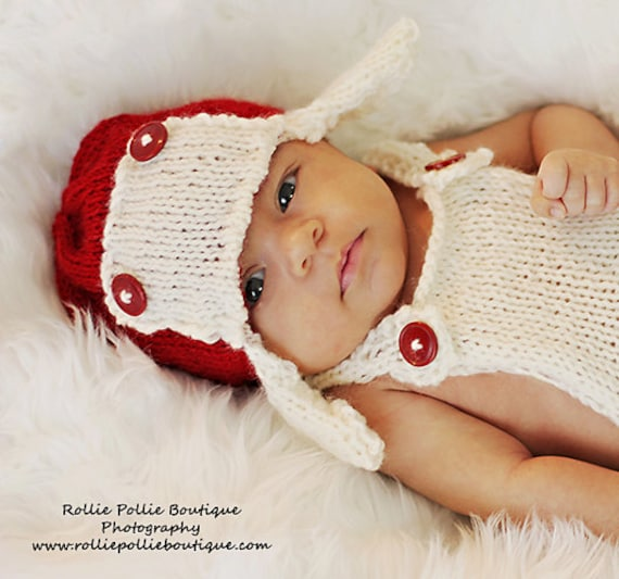 Newborn Knitting Aviator Hat Pattern / Hat Pattern / Aviator Pattern / Knitting Pattern / PDF Patte