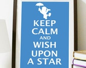 Keep Calm and Wish Upon A Star - 11 x 14 print - Pinocchio - thedevilstrip