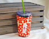 Iced Coffee Cozy - MADE TO ORDER - Cherry Lotus
