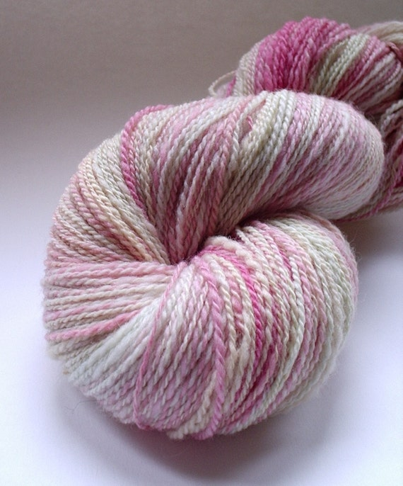Handspun Yarn -  2Ply Polworth - First blush of a Long-Awaited Spring