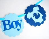ON SALE It's a Boy , onesie banner Baby shower Banner,  Baby party banner, rubber ducky banner  A672