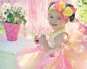 Pink Lemonade Tutu - Bubble Gum Tutu - Pink Tutu - Yellow Tutu - Tutu and bow Set - Size 2T - 5T - HypnoticDesigns