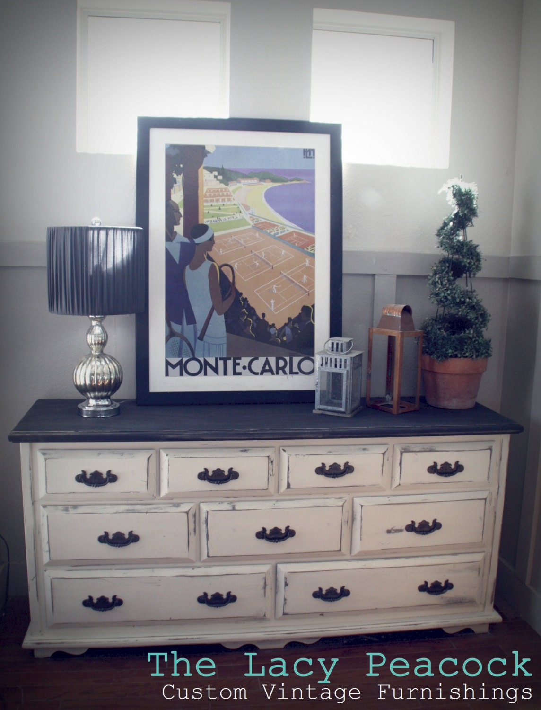 Ivory Changing Table Hydrangea Hill Cottage Posh Nursery