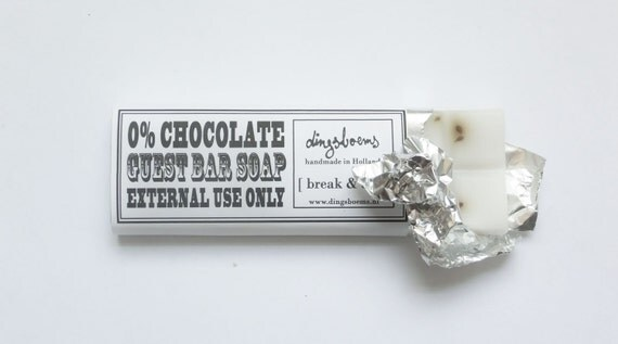 0% chocolate Guest Soap Bar