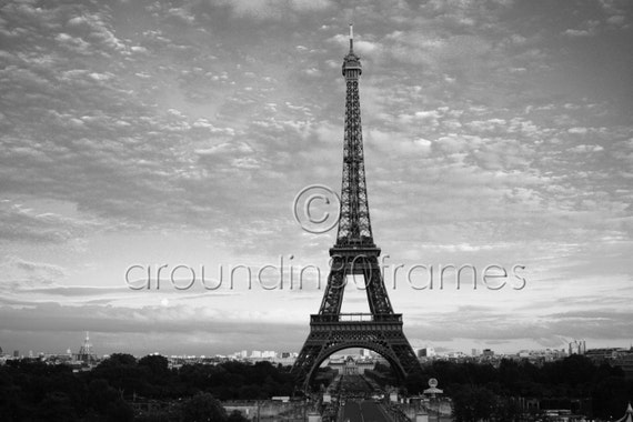 Eiffel Tower at Dusk, Paris, France 8x10 Print