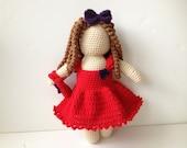 Faceless Doll Amigurumi Crochet Doll