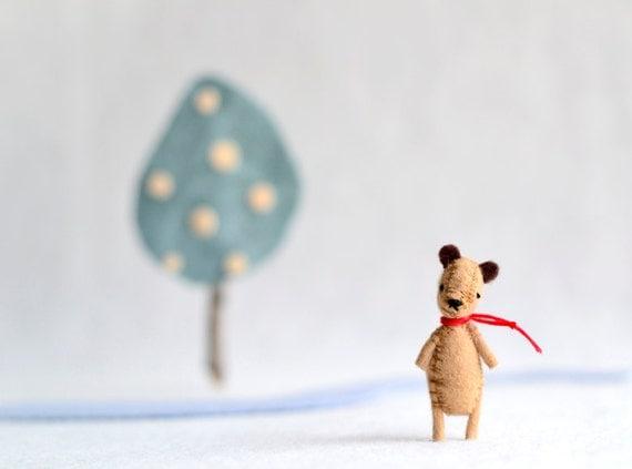 Honey Bear Felt Miniature