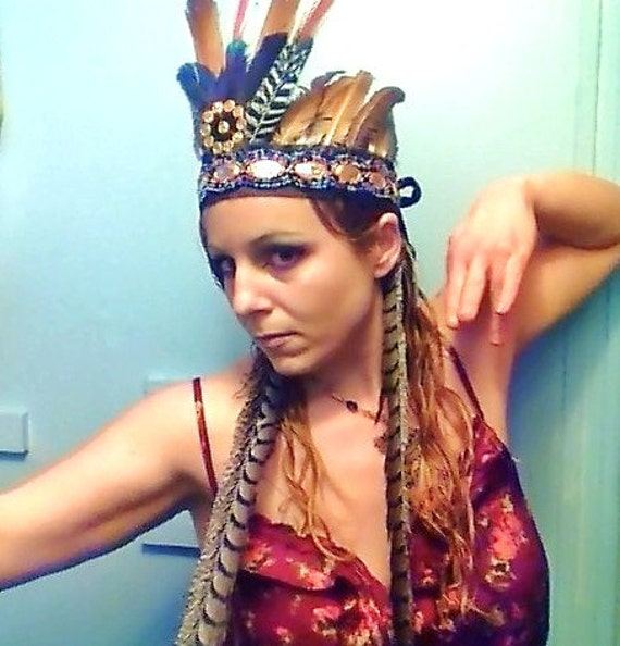 Mayan Empress Headdress Cruelty Free Feathers