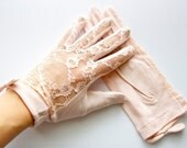 Sheer Lace Gloves - Elegant Lady Lace Sheer Gloves