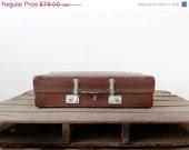 SALE Vintage Revelation Suitcase / Brown Hardboard Luggage - 86home