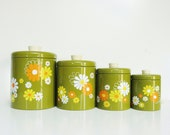 Groovy Kitchen Canisters - Avocado Green - thewhitepepper