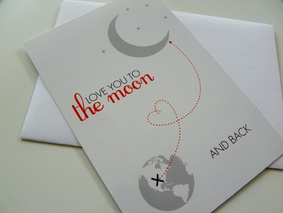 Fathers Day Card for Dad Love You To The Moon And Back Card Gift for Dad