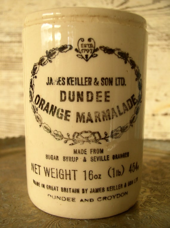 Vintage Marmalade Jar James Keiller and Son LTD. Made in England