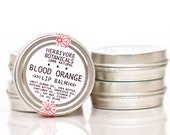 Blood Orange Lip Balm. 100% Natural Lip Balm. Vegan. Shea Butter.
