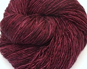 Hand Dyed Fingering/Sock Yarn Singles, 100% Superwash Merino,Tyrian Purple - Quaere